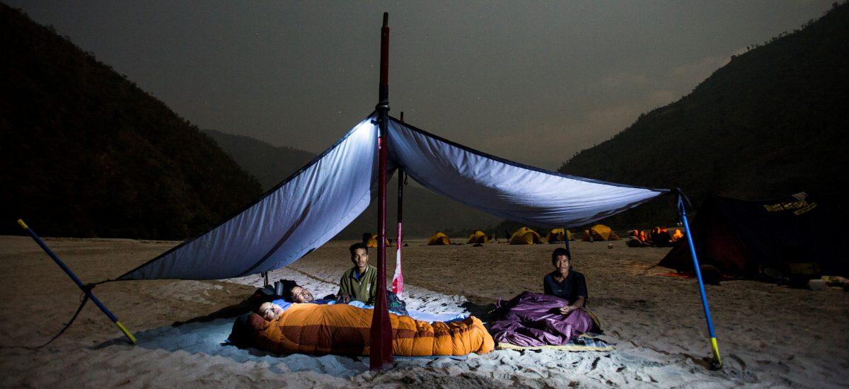 rafting camping